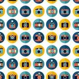 Photo camera set pattern. Retro photo camera set pattern, vector illustration Royalty Free Stock Photography