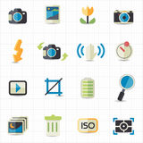 Photo camera setting icons. This image is a vector illustration Royalty Free Stock Image