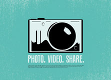 Photo camera  silhouette design Stock Photos