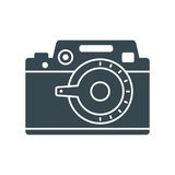 Photo camera simple icon Royalty Free Stock Images