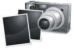 Photo camera with sliding Stock Photo