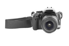 Photo camera with strap Royalty Free Stock Photography