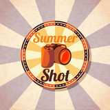 Photo camera for summer shots. vector Royalty Free Stock Images