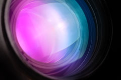 Photo camera telephoto lens front glass Royalty Free Stock Images