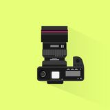 Photo camera top view icon flat design vector Stock Image