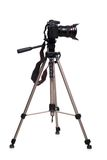 Photo camera on tripod Stock Photography