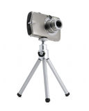 Photo camera on tripod isolated Royalty Free Stock Photo