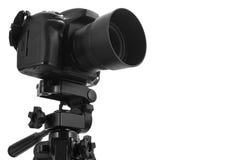 Photo camera on tripod  Royalty Free Stock Image