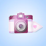 Photo camera for valentines day Royalty Free Stock Photo