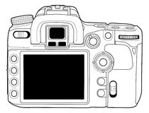 Photo camera vector draw Royalty Free Stock Images