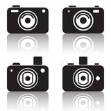 Photo camera vector icons Stock Photos