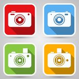 Photo camera vector icons Stock Image