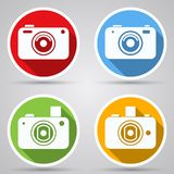 Photo camera vector icons Stock Photo