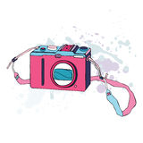 Photo Camera. Vector Illustration. Stock Image