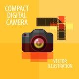 Photo camera vector logo design template. digital Stock Photo