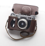 Photo camera vintage old fashioned close up on Royalty Free Stock Image