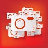 Photo camera web icon Stock Photography