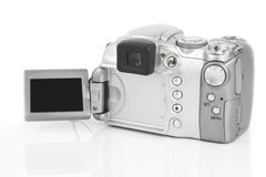 Photo camera on white Stock Photography