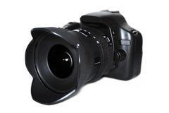 Photo camera on white background Royalty Free Stock Photography