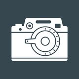 Photo camera white icon Royalty Free Stock Photography