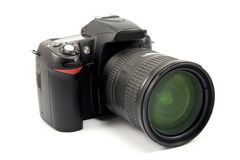 Photo camera with zoom lens Stock Photography