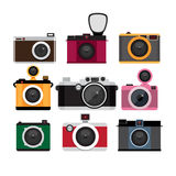 Photo cameras icons  set.  Isolated icons. Royalty Free Stock Image