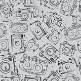 Photo cameras seamless pattern. Photo cameras of seamless pattern Royalty Free Stock Photography