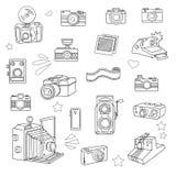 Photo cameras set Stock Photo