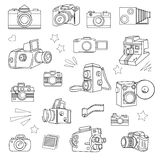 Photo cameras set Royalty Free Stock Image