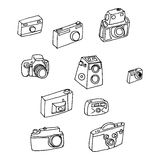 Photo cameras set Royalty Free Stock Photo