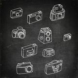 Photo cameras set Royalty Free Stock Photography