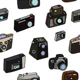 Photo cameras set Royalty Free Stock Images