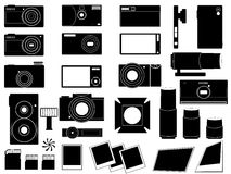 Photo cameras and stuff for photography Royalty Free Stock Photography