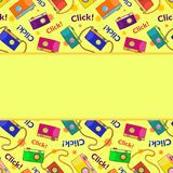 Photo cameras vector seamless pattern Stock Images