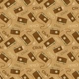 Photo cameras vector seamless pattern Royalty Free Stock Photography