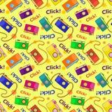 Photo cameras vector seamless pattern Royalty Free Stock Photos