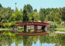 Japanesse Garden in EskiÅŸehir Turkey royalty free stock images