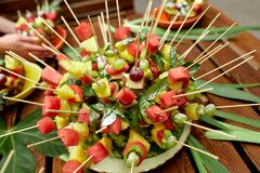 Photo of canape with fruits Stock Photos