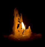 Photo of candle shined with own flame Royalty Free Stock Images