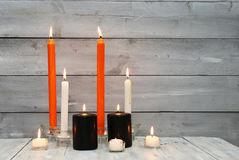 Photo with candles Stock Image