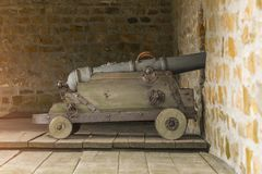 Photo of the cannon to protect the fortress of the Ukrainian Cossacks. Can be used for textures in game development stock photo
