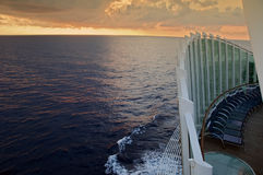Photo capture taken from a ocean ship cruise Stock Photography