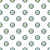 Photo card pattern. Seamless repeat in cartoon style vector illustration Royalty Free Stock Images