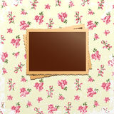 Photo cards on shabby chic background Stock Image