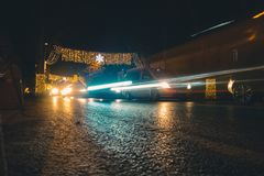 Photo of Cars during Night Stock Image