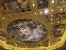 Photo of the Ceiling of The Venetian Macau. Royalty Free Stock Photos