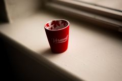 Photo of Ceramic Cup Near Window Stock Images