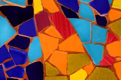 Photo of Ceramic Mosaic Pattern made in the Summer time in Spain Stock Photos