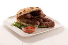 Photo of Cevapi, cevapcici, traditional Balkan food - delicious stock photos
