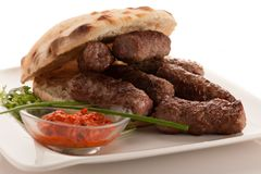 Photo of Cevapi, cevapcici, traditional Balkan food - delicious stock image